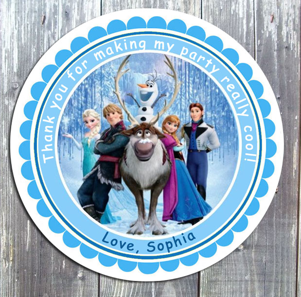 Disney Frozen Birthday Party Favor Favor Gift Tag