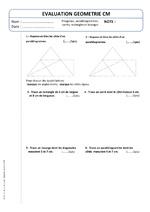 """Evaluation CM2 Numération """"Les fractions (1)"""""""