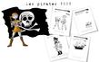 Coriages -anticoloriages : les pirates
