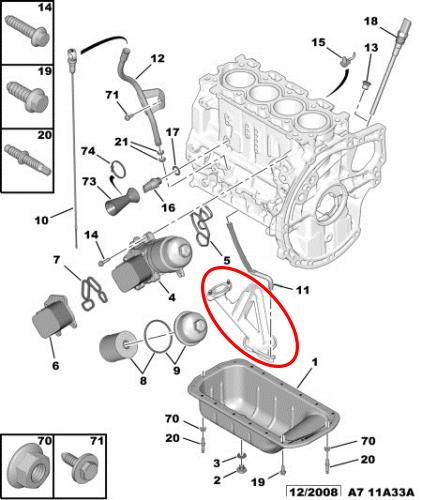 schema moteur ford focus 1.6 tdci