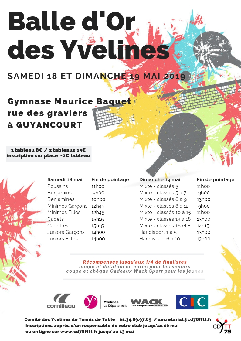 Wack Sport Tennis De Table Save The Dates Dates à Retenir Des Prochaines Semaines Union