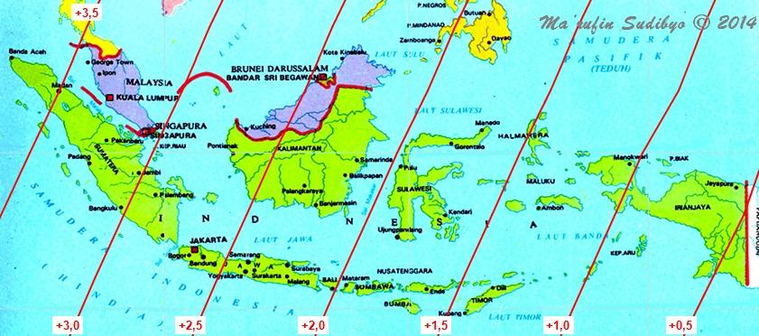 Gambar Peta Jayapura Kumpulan Peta Lokasi Alamat Dan Nomor Telepon Alamat Gambar 2 Peta Umur Bulan Di Indonesia Pada Jumat Senja 27 Juni 2014