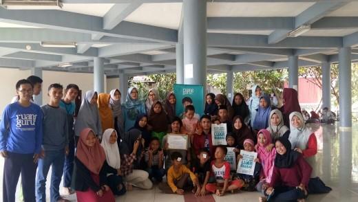 Foto bersama Pasukan Bintang KPAJ dan Ruang Guru
