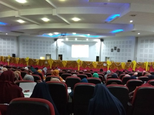 Suasana Seminar Al-Quran di Auditorium Prof Amiruddin Unhas, Minggu (1/4)