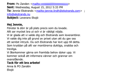 Ekstrands referens Anna & PO