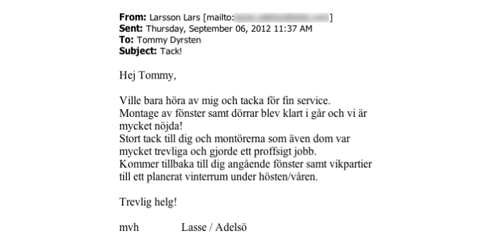 Ekstrands referens Lasse