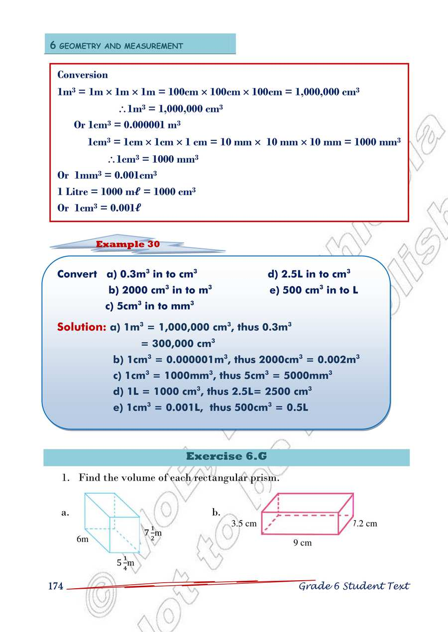 1m 100 Cm Ethiopia Learning - Math Grade 6 Page 178 In English