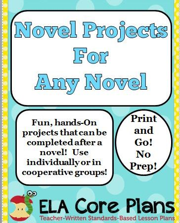 novel projects for any novel cover