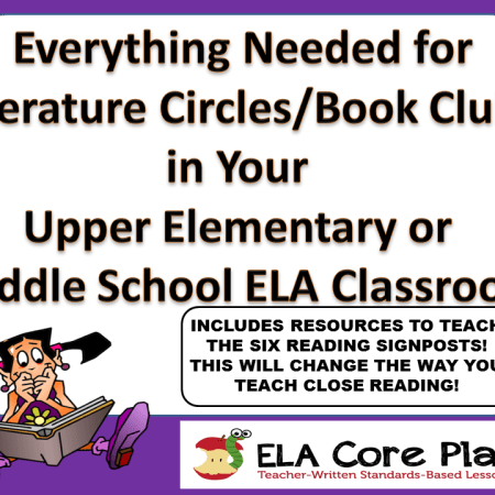 BOOK CLUBS PACKET COVER PAGE EVERYTHING NEEDED WITH SIGNPOSTS