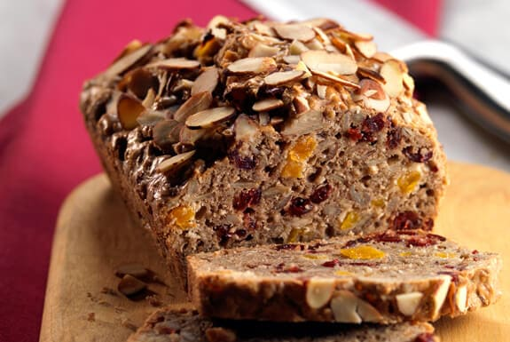 Paleo Cranberry Sunflower Bread