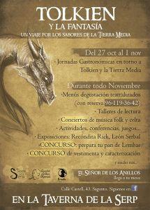 Cartel de las Jornadas gastronómicas en torno a Tolkien y la Tierra Media 2016