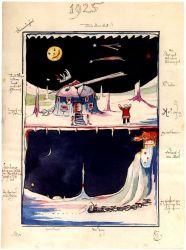 Dibujo de una de las 'Cartas de Papá Noel' de J.R.R. Tolkien