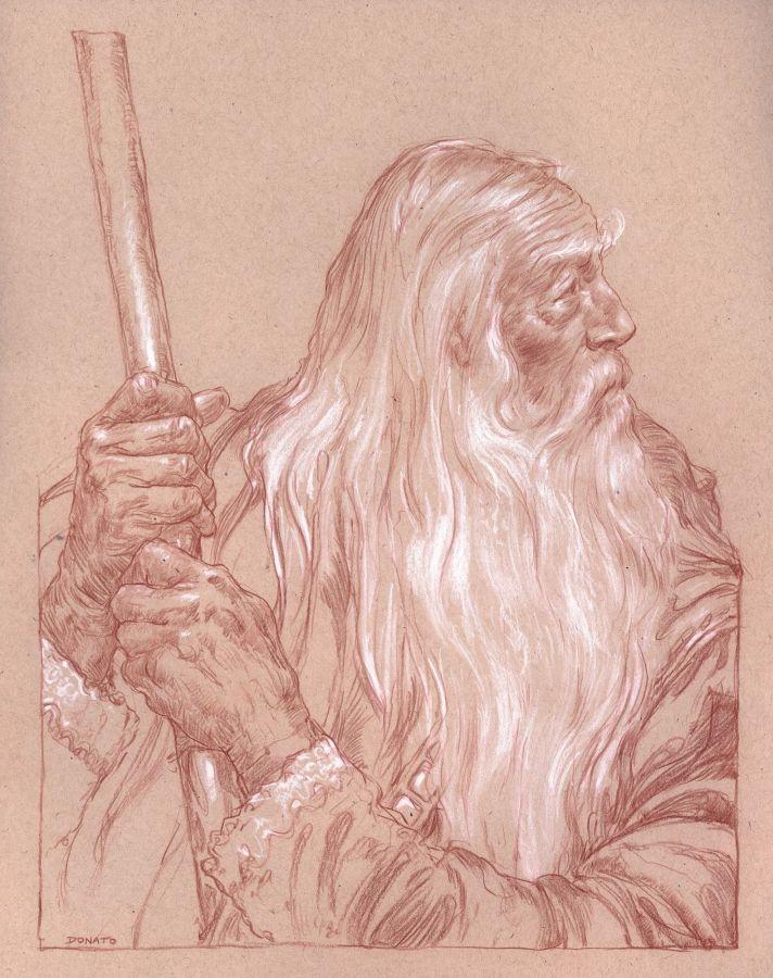 Gandalf en Eregion, según Donato Giancola