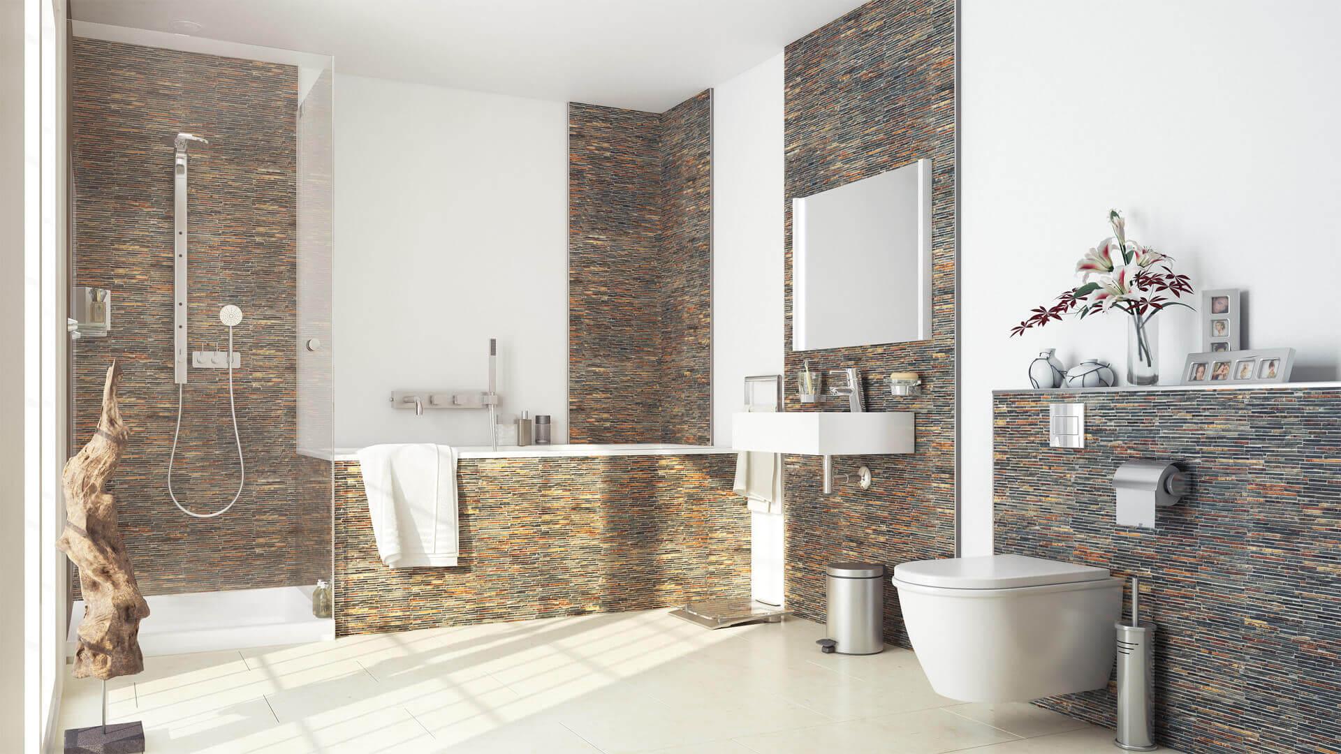 Badezimmer Wand Fugenlos