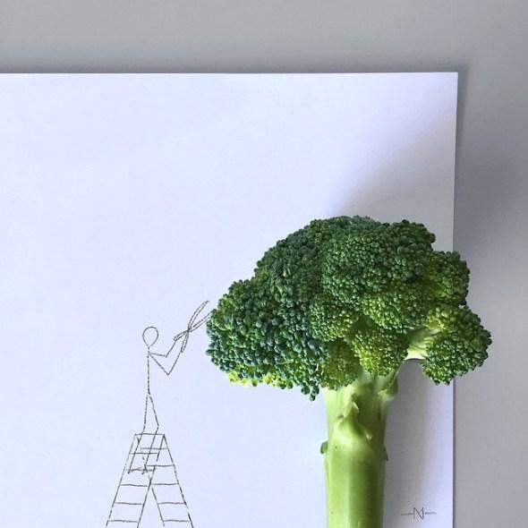 Monigote y el brócoli.