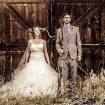American Gothic Wedding Couple