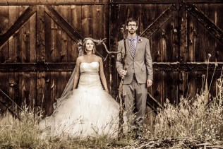 American Gothic Wedding Couple