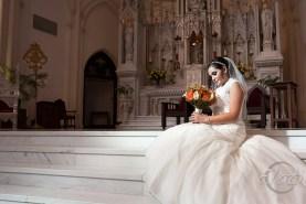 Bride on Denver Cathedral Altar