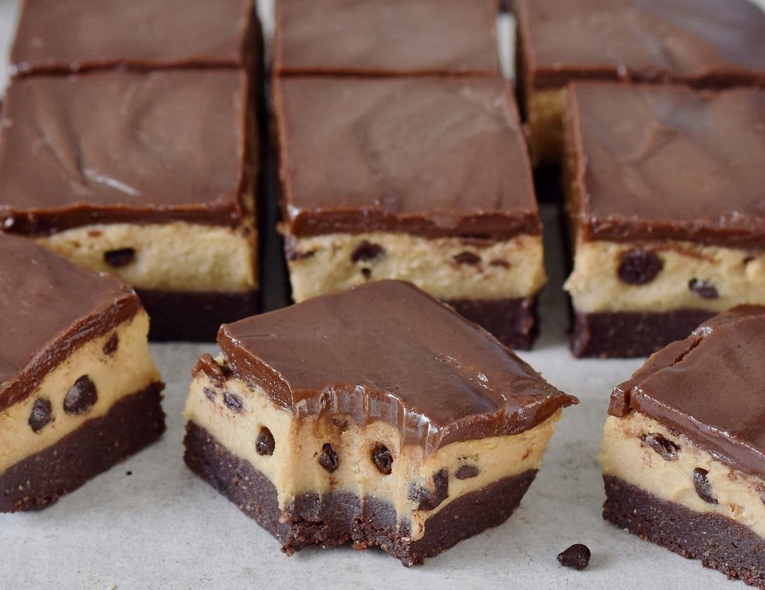 Cookies Kuchen Ohne Backen Cookie Dough Brownies