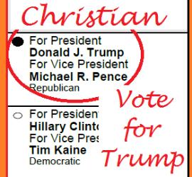 I'm a Christian Vote for Trump