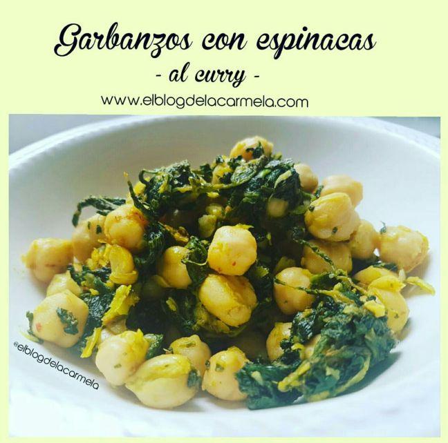 Garbanzos con espinacas y curry