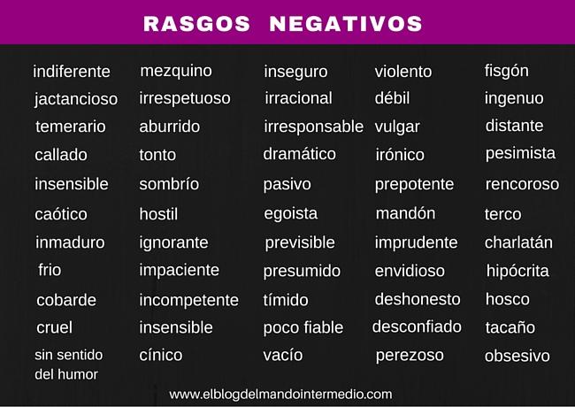 Rasgos negativos
