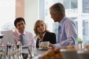 Reunión informal con el equipo.