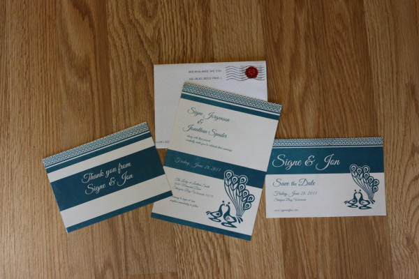 Invites, save the dates, and thank you cards