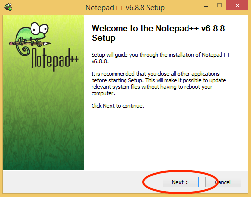 Notepad++ Installer Screen 01