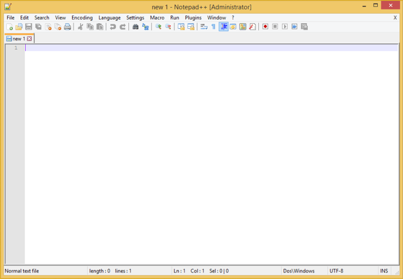 Notepad++ Blank Document