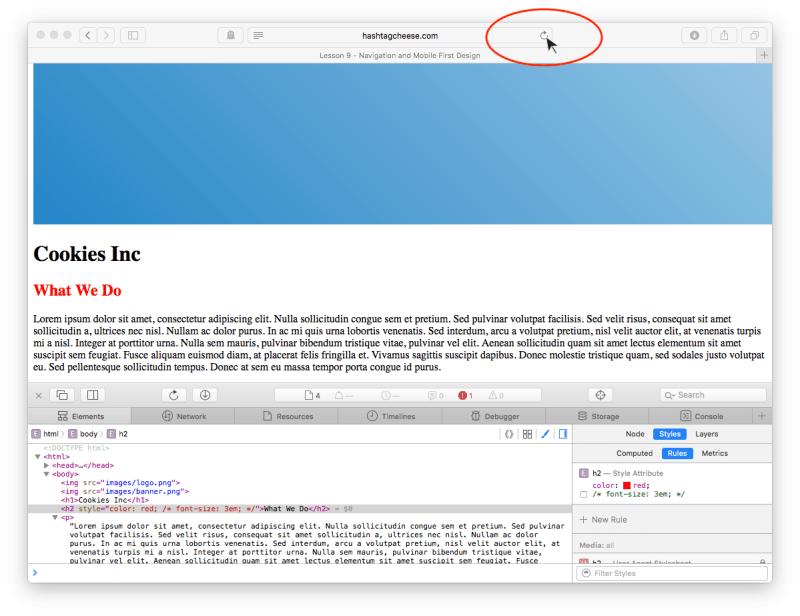 Safari browser refresh