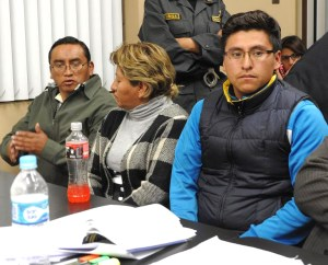 Gabino Apaza, Lourdes Candia y Yober