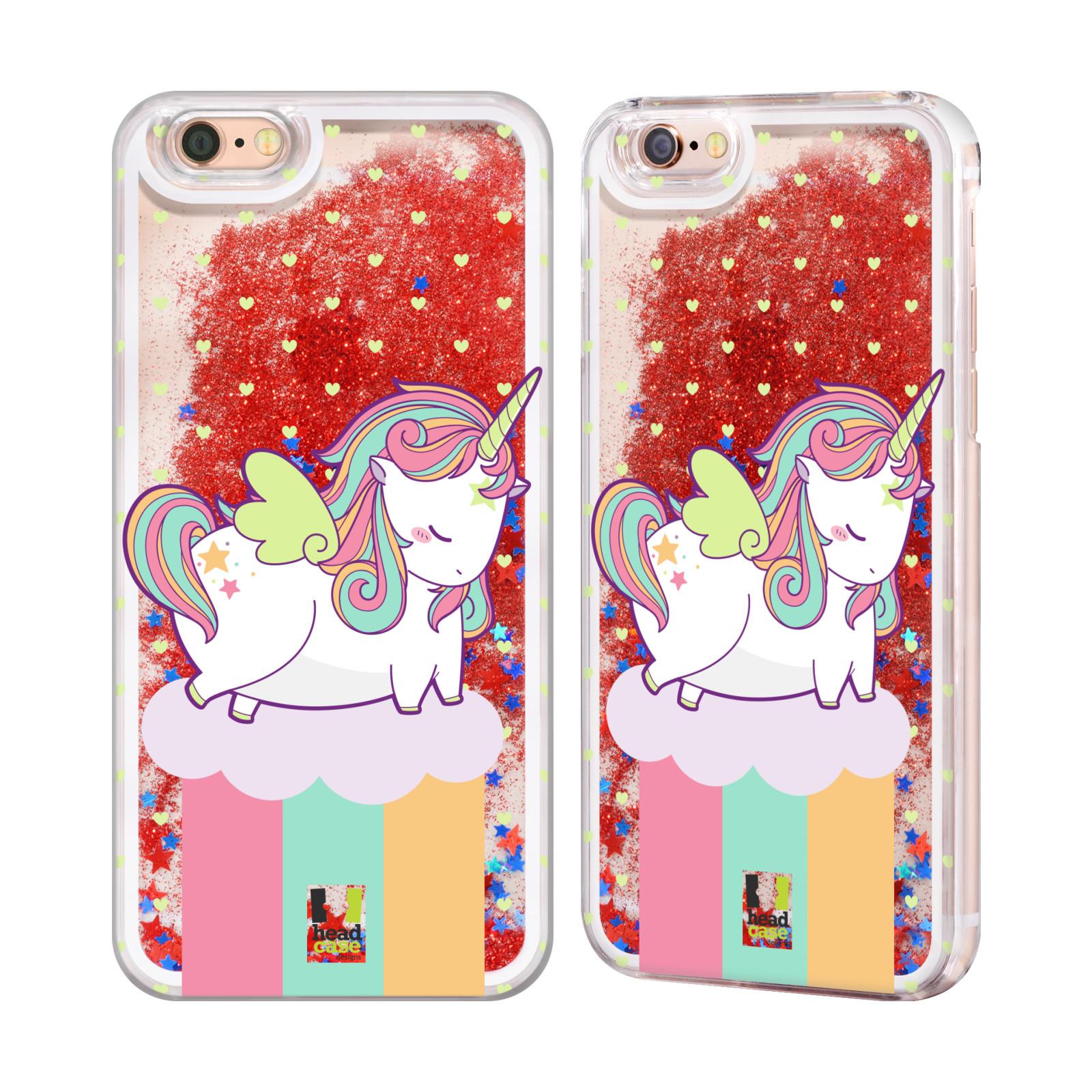 HEAD CASE UNICORN CHUBBY RED LIQUID GLITTER CASE FOR APPLE iPHONE SAMSUNG PHONES | eBay
