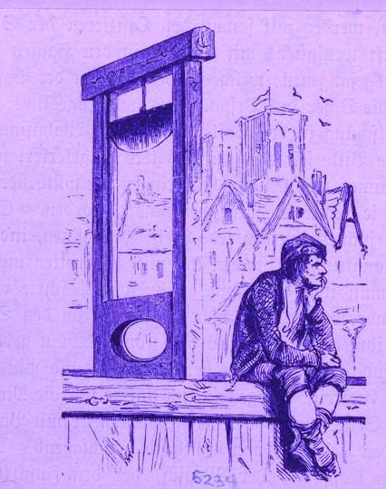 La guillotina no es la solución, pero una vez soñé con ella.