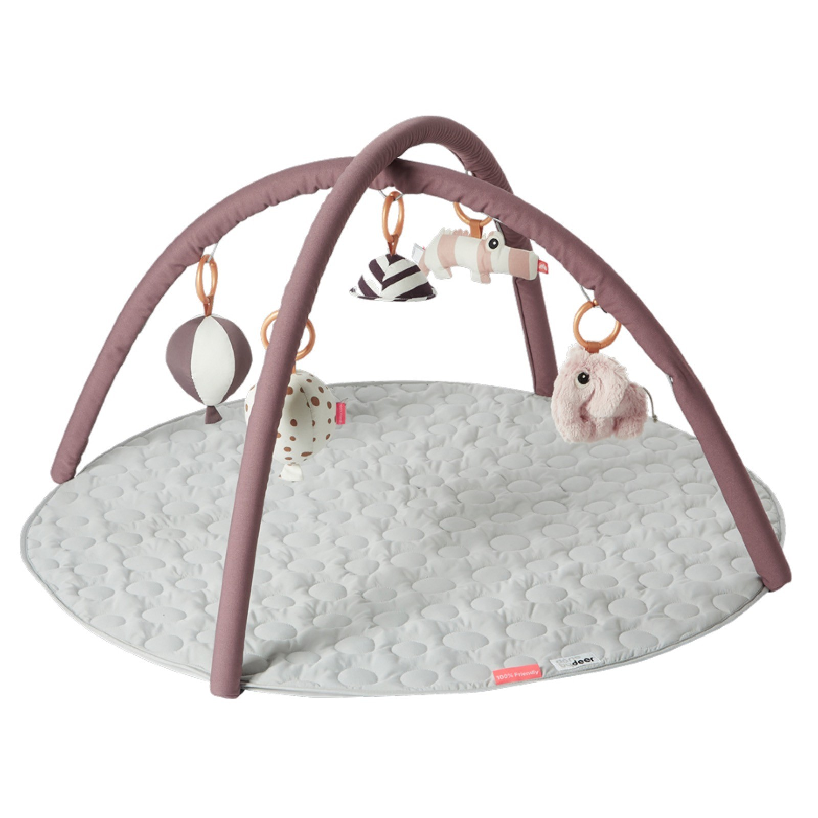 Spielbogen Baby Done By Deer Activity Spielbogen Matte Rosa