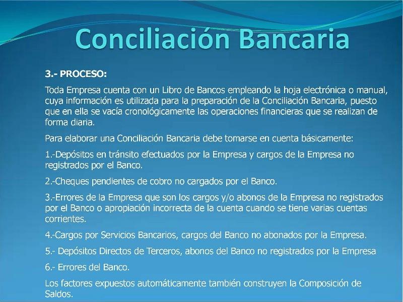 Como elaborar una conciliación bancaria - PARTE 2