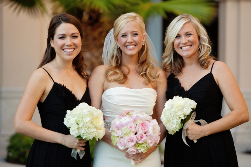 Elegant Black, White  Blush Wedding Every Last Detail - pink black and white weddings
