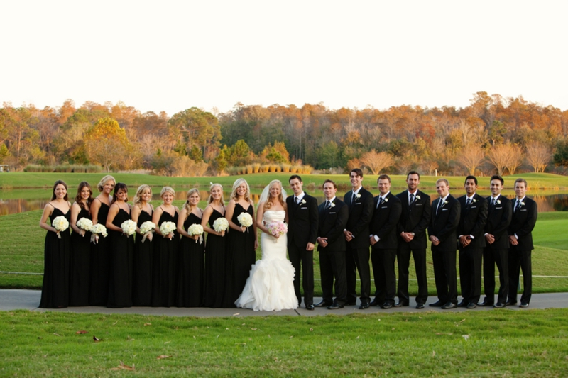 Elegant Black, White  Blush Wedding Every Last Detail