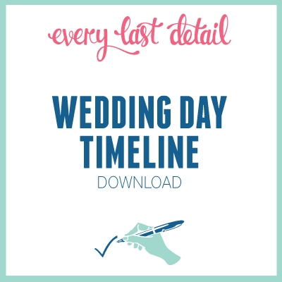 Creating A Wedding Day Timeline Every Last Detail - wedding timeline