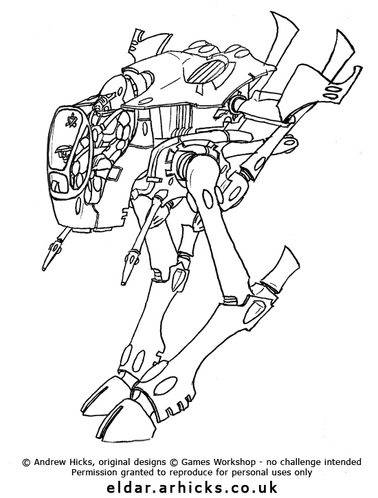 Eldar Corsair Wasp-Warwalker 30\/40k\/Art\/Aeronautica\/Ships - permission slip template