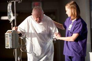 helping a stroke victim, elderly help