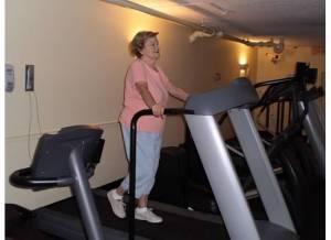Mom on the treadmill