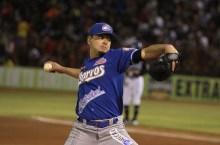 El pitcher de la novena jalisciense, Salvador Delgadillo. Foto: cortesía Charros de Jalisco.