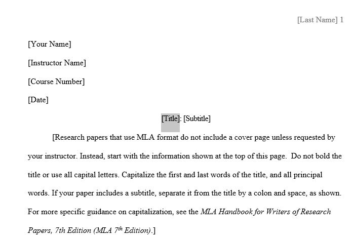 word mla format template - Romeolandinez - Mla Format For Word