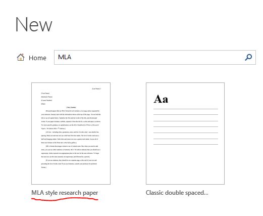 What the What? Word has an MLA Template? eLearning @ Centralia College - Mla Format For Word