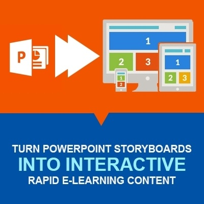 Turn PowerPoint Storyboards into Interactive Rapid e-Learning - interactive storyboards