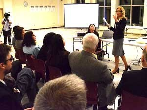 Speaking at Community Conversation on Substance Abuse