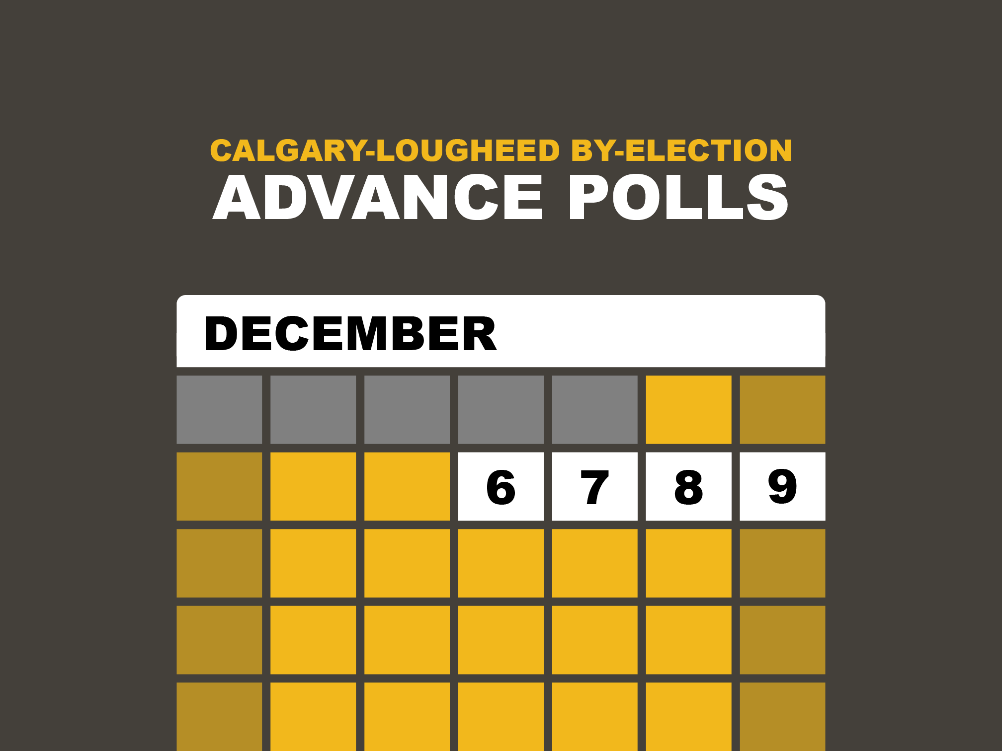 Election Poll Calgary Lougheed Byelection Advance Poll Ad Elections Alberta