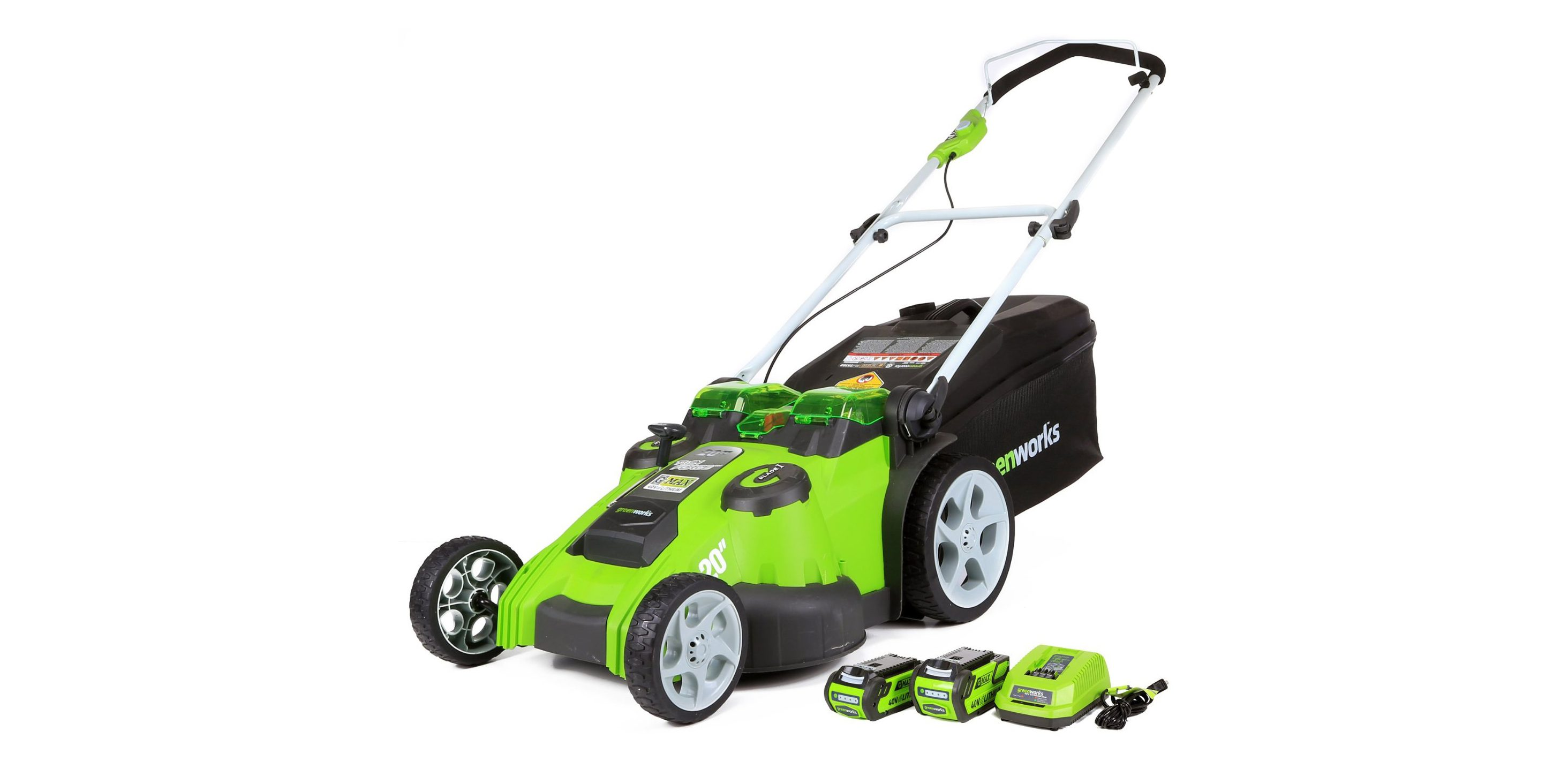 Electric Lawn Mower Sale Green Deals Greenworks G Max 40v Electric Lawn Mower Is An