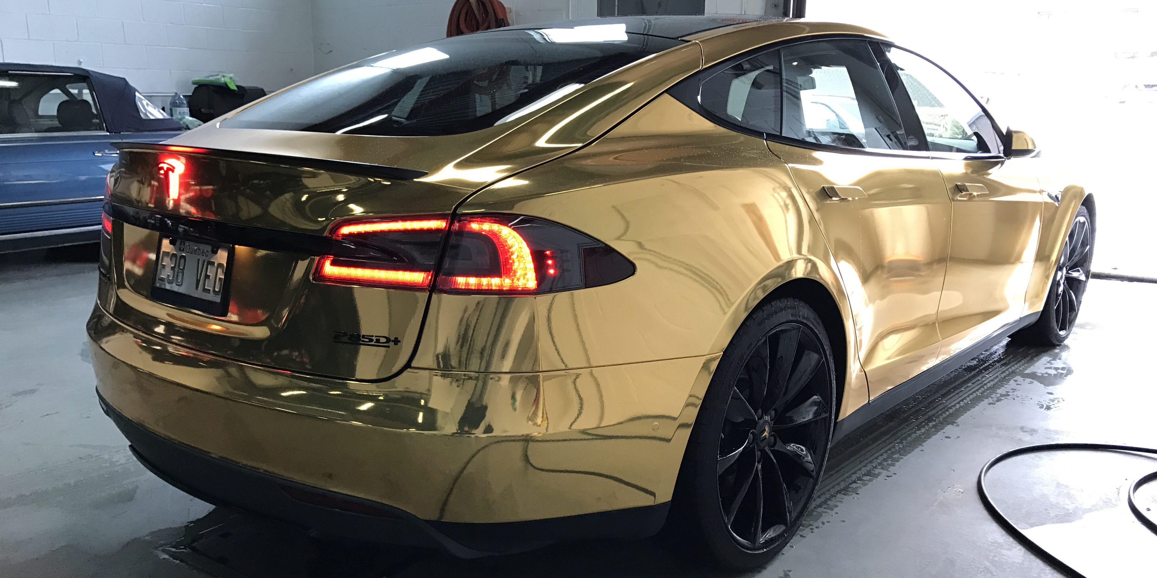 Gold S A Tesla Fit For President Trump Gallery Of New Gold Chrome